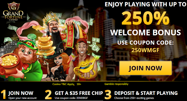 Grand Fortune Casino 250% Welcome Bonus