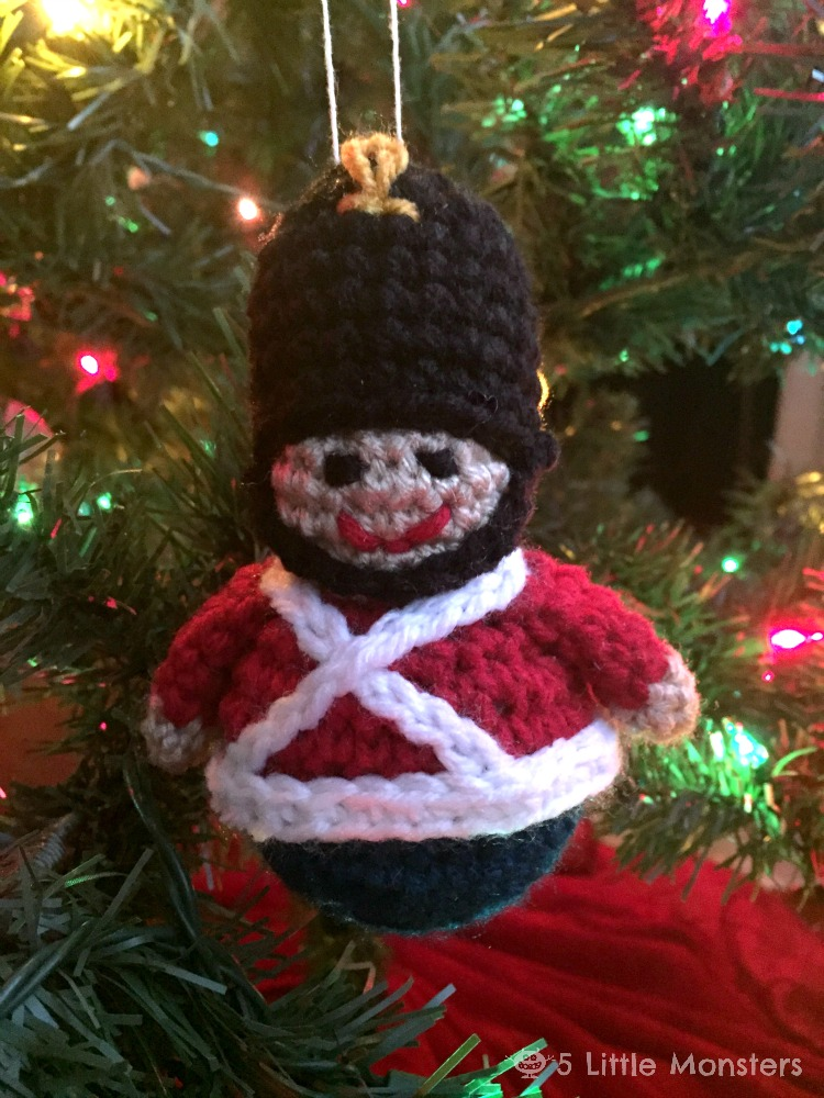 you can find the toy soldier ornament pattern here
