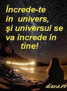 Încrede-te în univers, şi universul se va încrede în tine