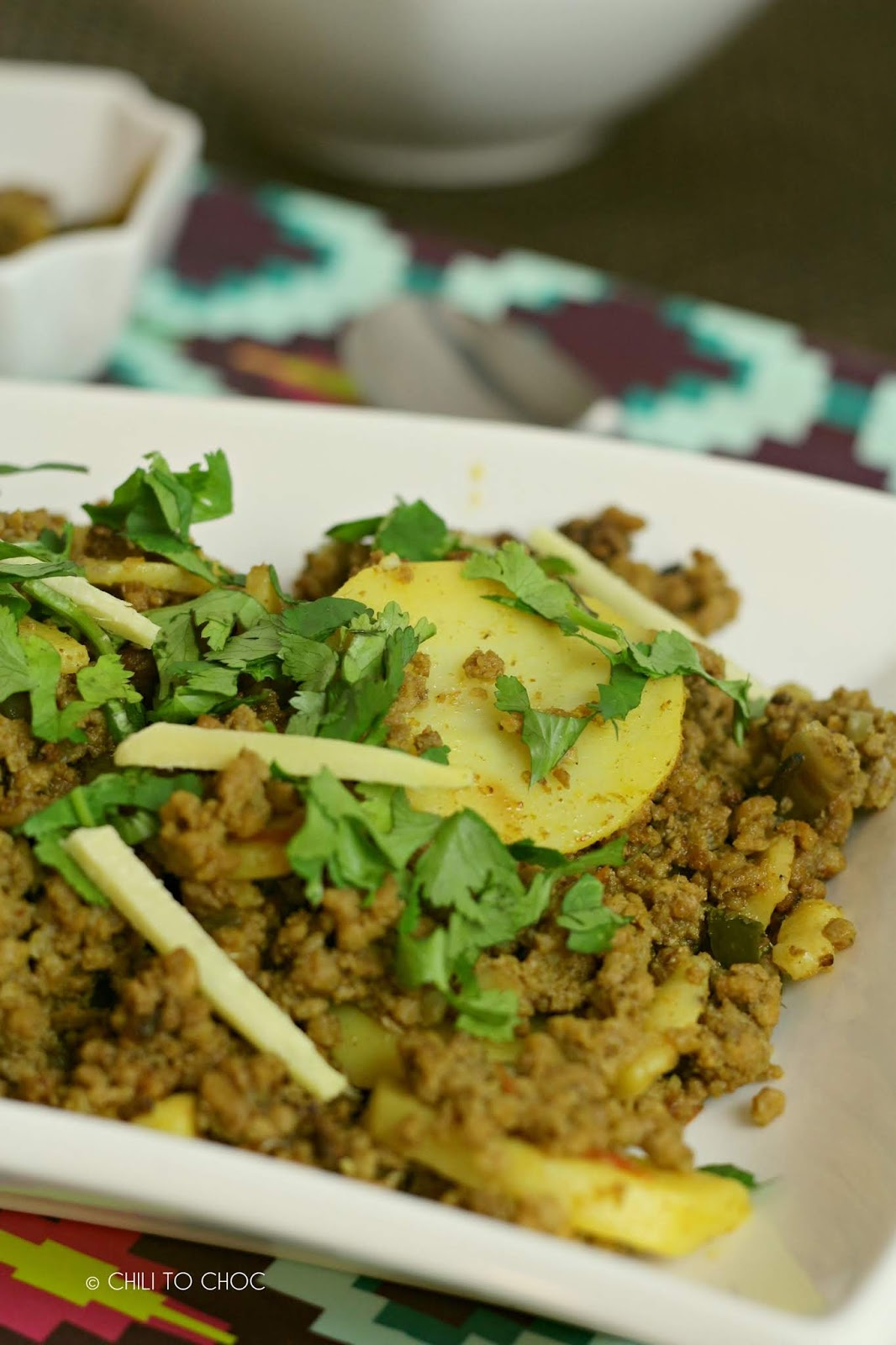 Aloo Keema (Ground Meat with Potatoes)