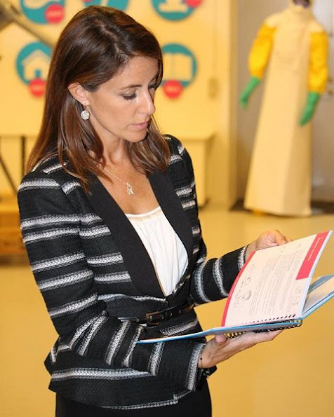 Princess Marie wore By Malene Birger Cardigan and By Malene Birger Paxlow Pump, jewelery Betsey Sook Heavnely Qi Diamond Ring