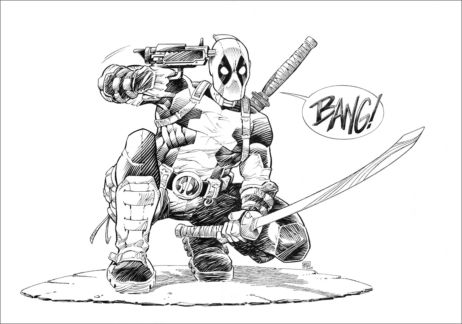 Image deadpool dessin fonds d 39 cran hd - Dessin deadpool ...