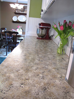 painted countertops makeover before and after