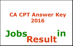 CA CPT Answer Key 2016
