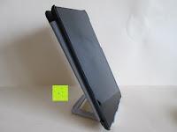 Tablet vorne mit Hülle: Marrywindix Mehrere Karten-slots Multi-Winkel Handy Smartphone Tablet E-Reader Allgemeine Halterung Ständer Handyhalterung (Grau-Weiß)