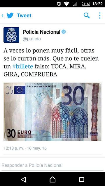 billetes de 30 euros