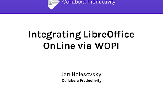 Integrating LibreOffice OnLine into your web app