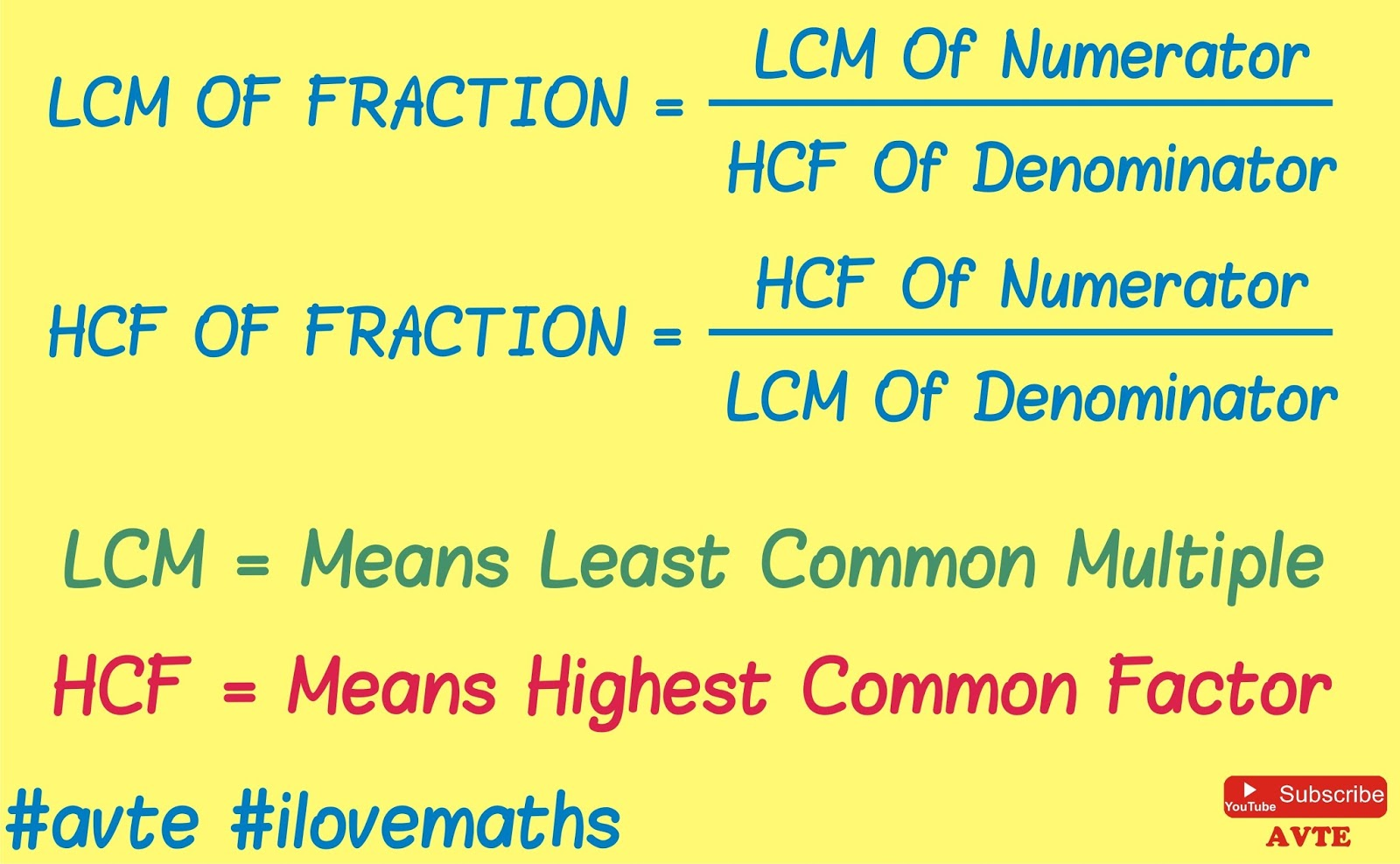 Maths4all Fraction Of Lcm And Hcf