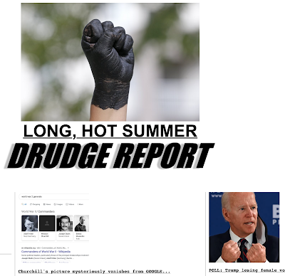 Fists —a blackface fist and Biden doing fists.