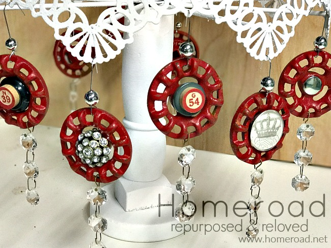 Repurposed faucet ornaments with bling