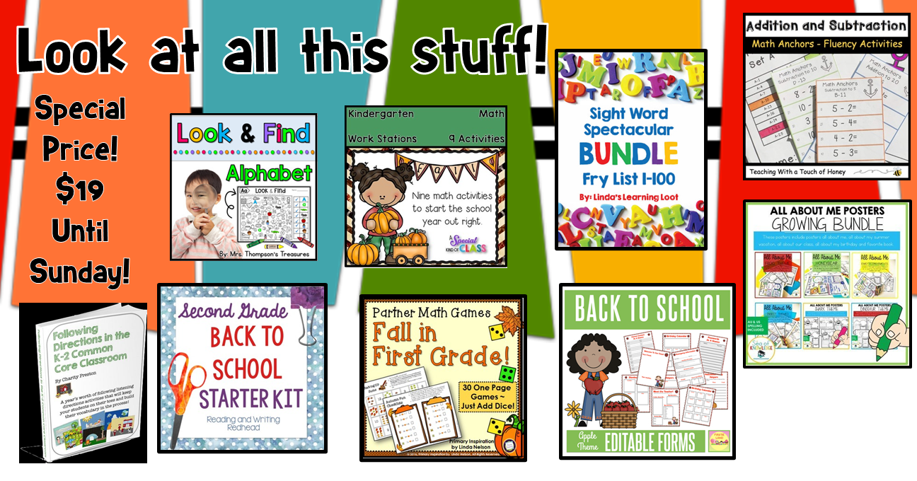 AMAZING Back to School Bundles!  Hurry!  You don't want to miss these!