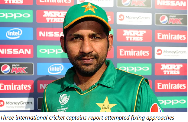 Three international cricket captains report attempted fixing approaches