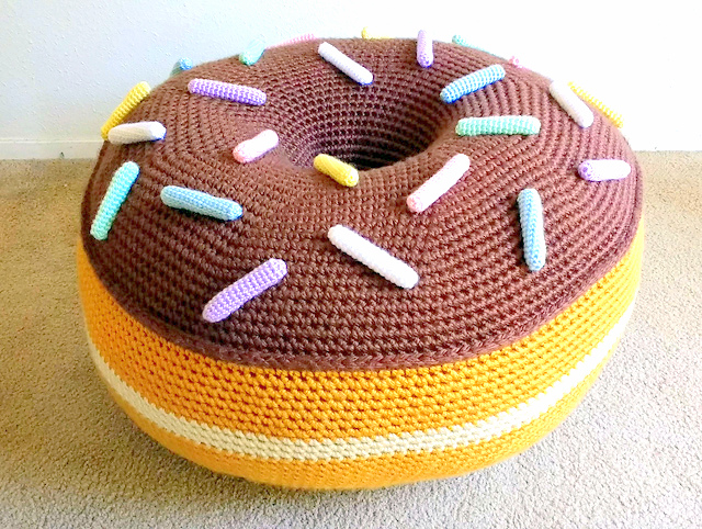 Giant Donut Floor Pouf crochet pattern