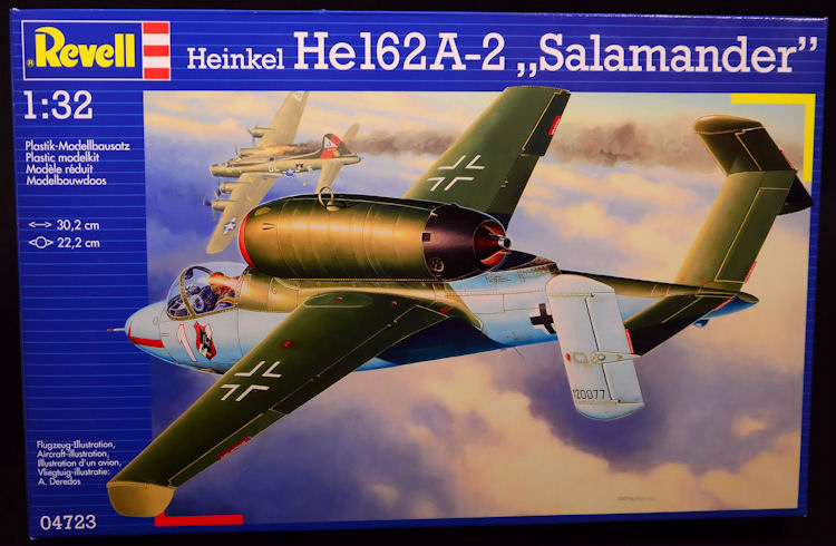 "The Modelling News: Revell 1/32 scale He-162 ""Salamander"" kit re ..."