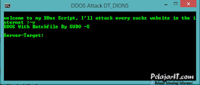 Source Code Program Serangan DDoS
