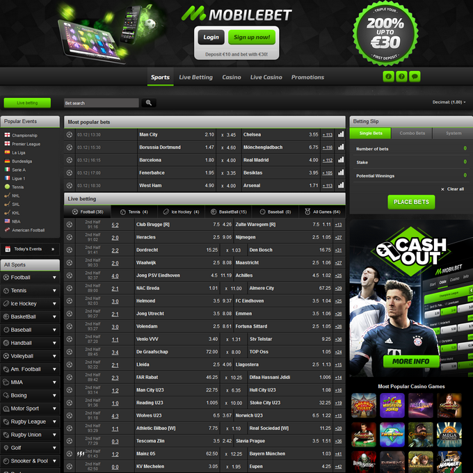 Mobilebet Screen