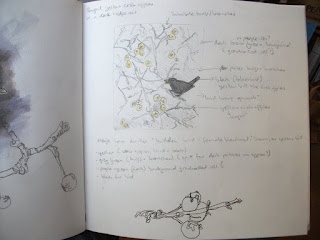 Hedgerow gold prep sketches