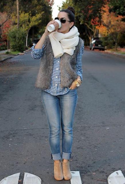 como vestir casual en invierno