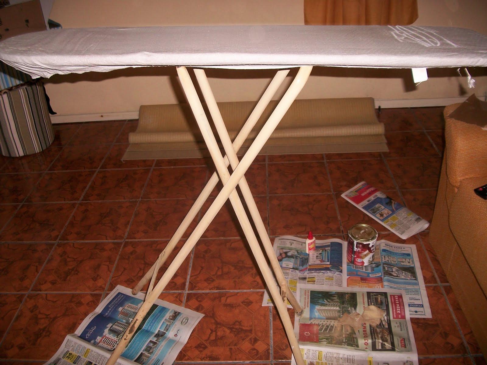 Reciclar reformar e decorar tabua de passar roupa for Como reciclar una mesa de tv vieja
