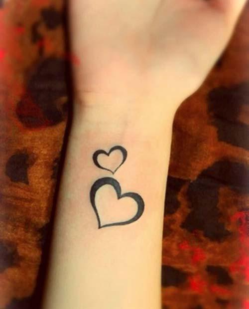 bilek kalp dövmesi wrist heart tattoo