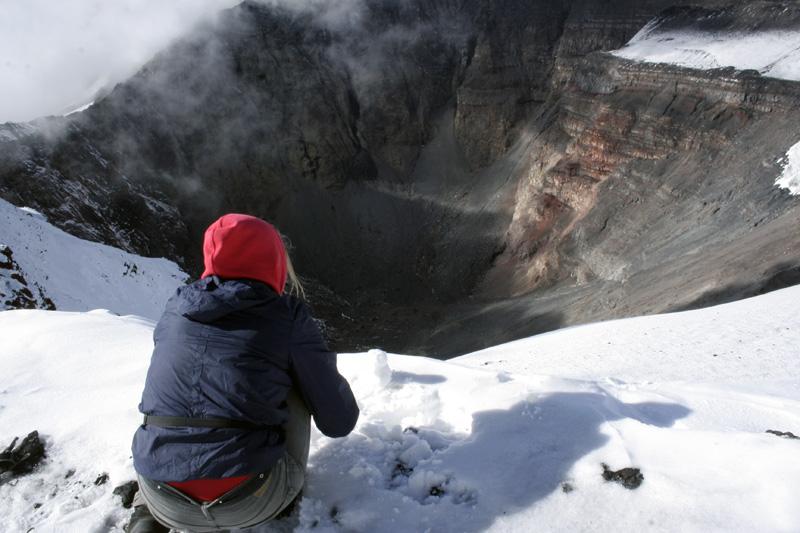 кратер вулкана толбачик камчатка