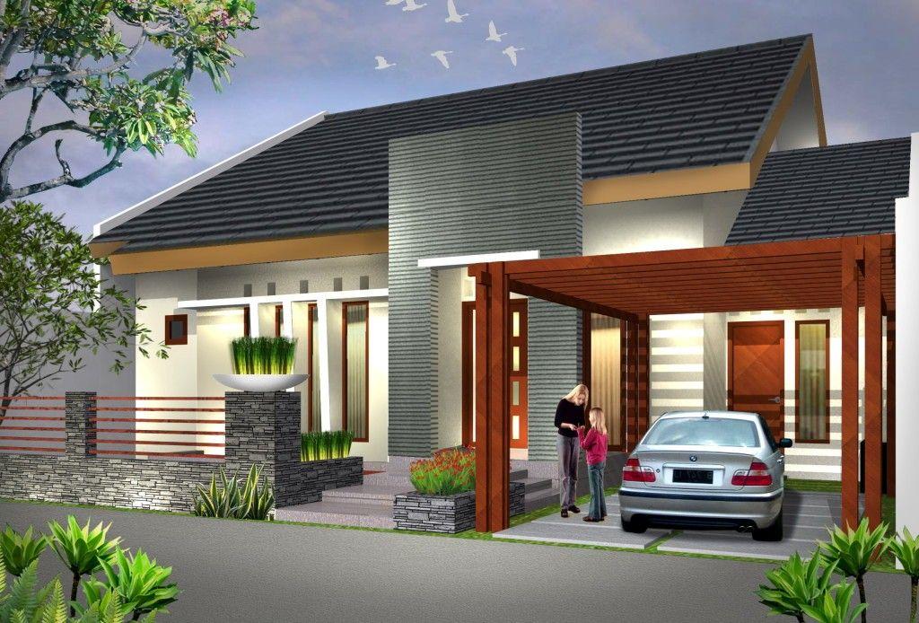 desain rumah type 70 minimalis modern