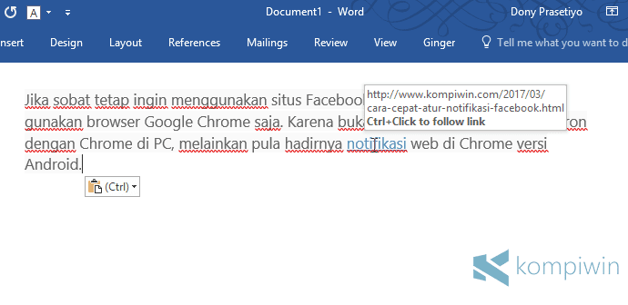 cara ubah teks internet ke teks normal