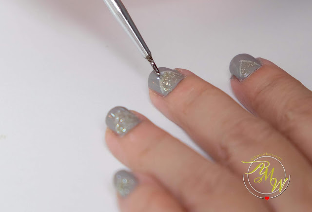 a photo of Nail Art tutorial, space gray nails by Nikki Tiu of www.askmewhats.com using Orly Tiara