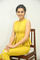 Taapsee Pannu looks mesmerizing in Yellow for her Telugu Movie Anando hma motion poster launch ~  Exclusive 037.JPG