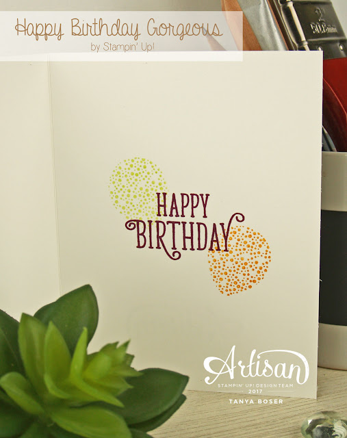 Stampin' Up! Happy Birthday Gorgeous stamp set has some awesome balloon images just perfect for any celebration! Tanya Boser for the Artisan Design Team