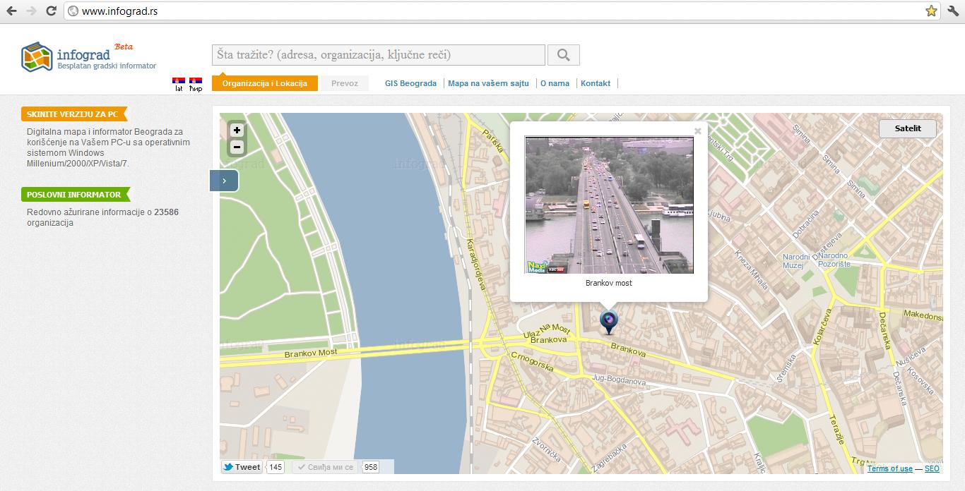 mapa beograda decanska ulica Mapa Ulica Beograda: Mapa ulica Beograda: Interaktivna mapa ulica  mapa beograda decanska ulica