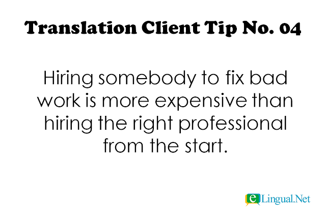 Tips for Translation Clients | Spread The Word Blog | www.elingual.net