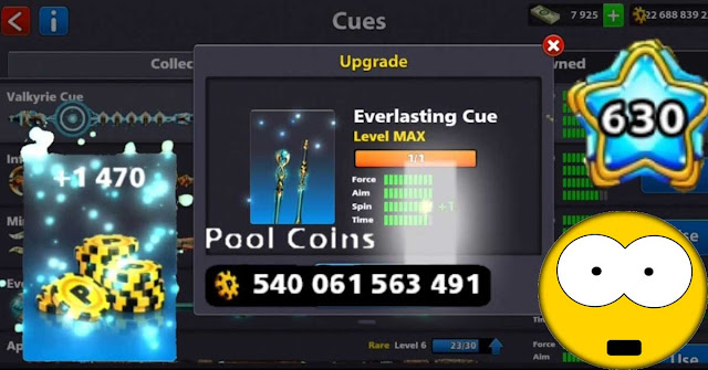 All Cues 8 Ball Pool level MAX With 540 Billion Coins