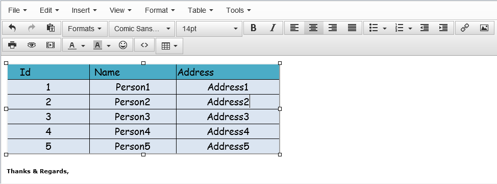 Paste Excel data into TinyMCE with Formatting | Non Stop Ext