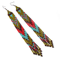 long beaded earrings beadwork beads beadweaving jewelry anabel 27