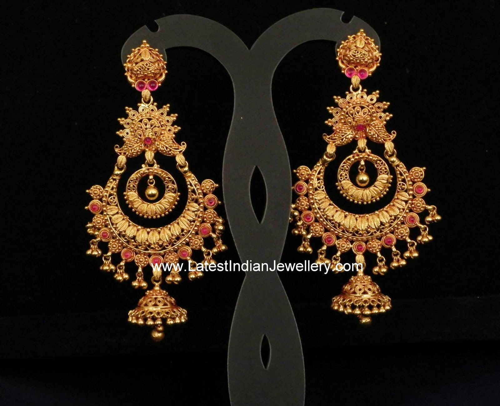 Gold Antique Heavy Chand Balis