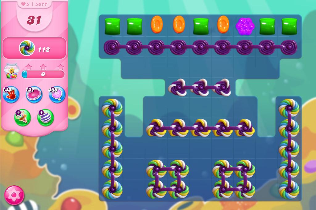 Candy Crush Saga level 5677
