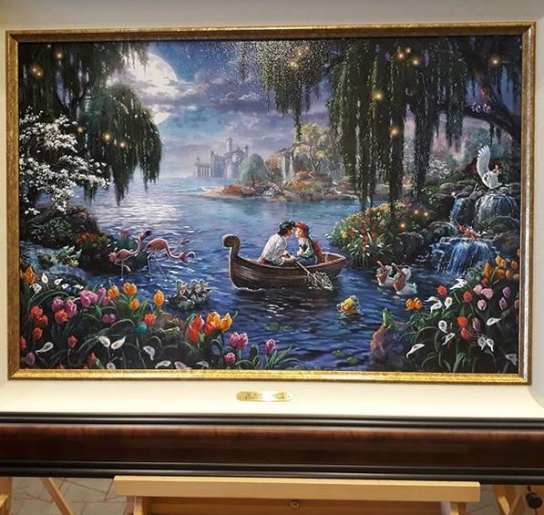 Tangled Repunzal Painting in the Lake