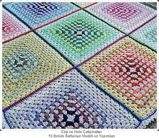 Örgü Bebek Battaniye Modelleri - Tığ işi Battaniye Modelleri 3
