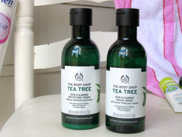 skin care routine, the body shop tea tree toner, the body shop tea tree oil facial wash