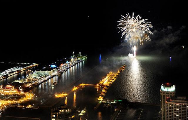 Ano novo no Navy Pier de Chicago