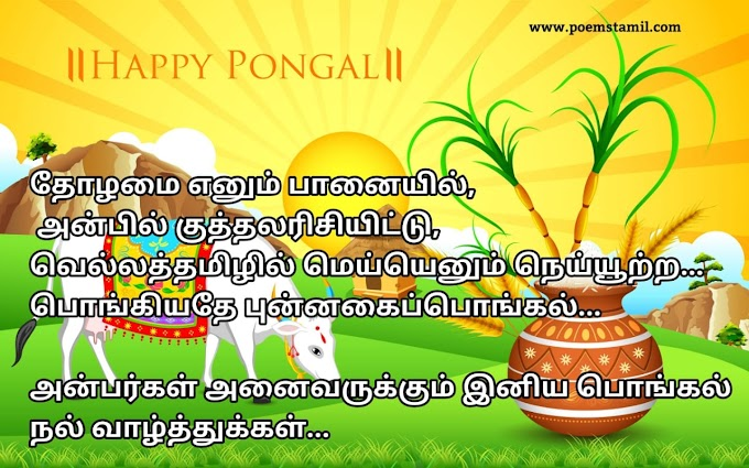Pongal kavithai wishes in tamil 2019 - Happy pongal festival images 2019