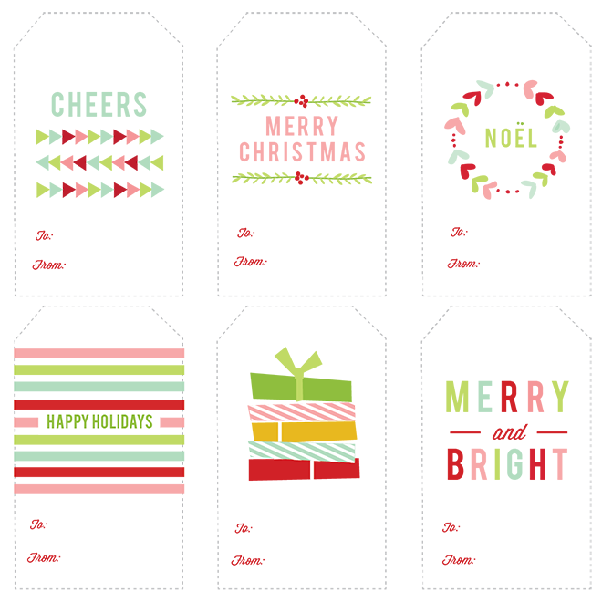 296 FREE Printable Holiday Gift Tags The Scrap Shoppe