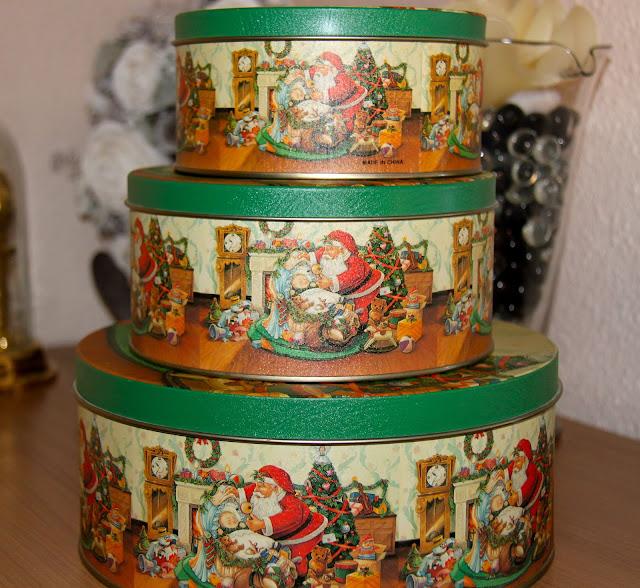Lote 3 Cajas metálicas con motivos Navideños