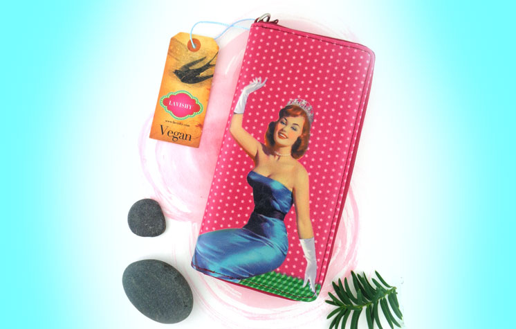 Vegan pinup girl wallet