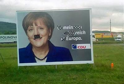 Merkels Europa Wahlplakat CDU - Mein Reich lustig