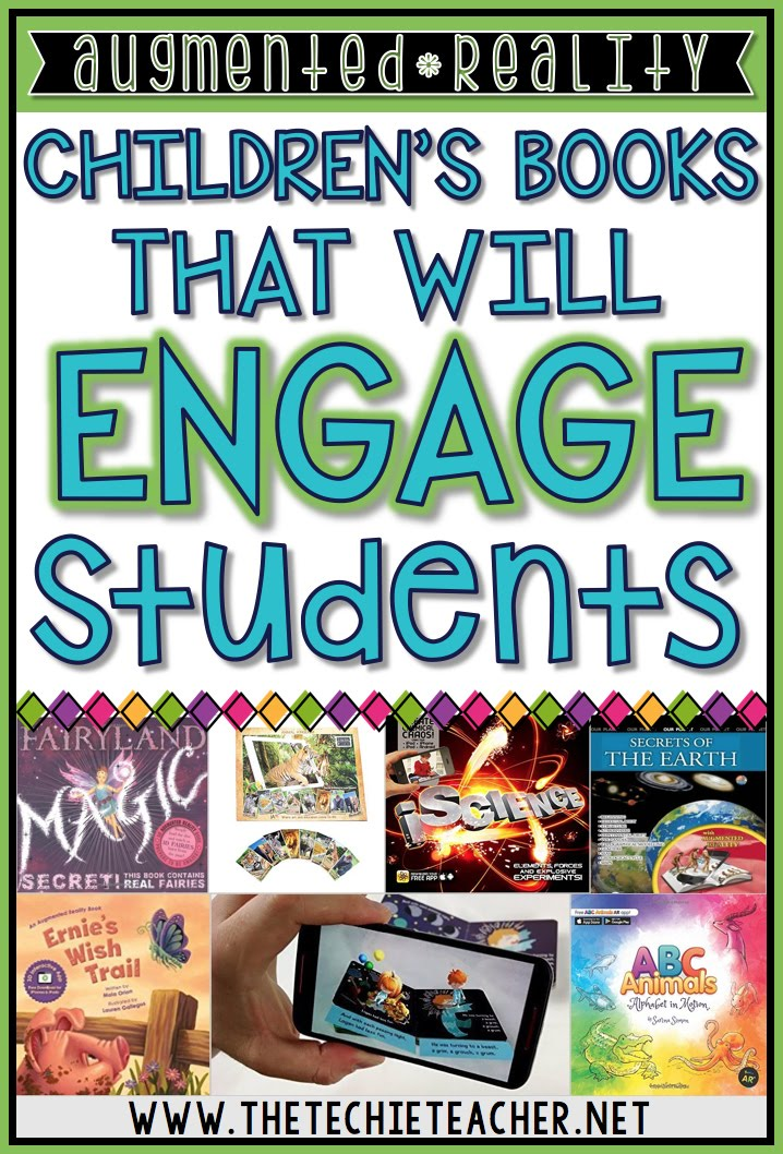 Augmented Reality Children's Books that will engage students. Grab a phone, iPad, or tablet and spice up your library with these titles that would be great for the elementary classroom!