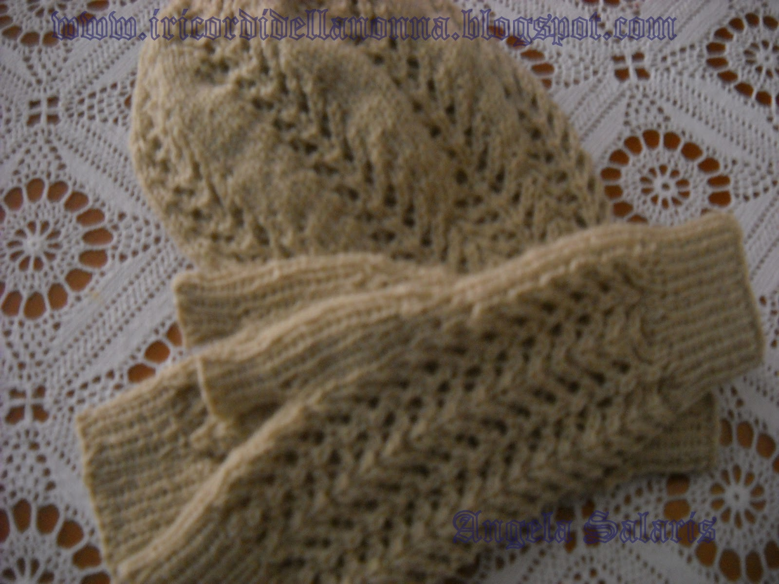 I ricordi della nonna  Tutorial Basco e guanti 2a6624175ed2