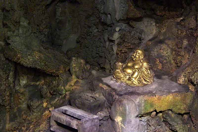 smiling, Buddha, statue, cave Pentax K1