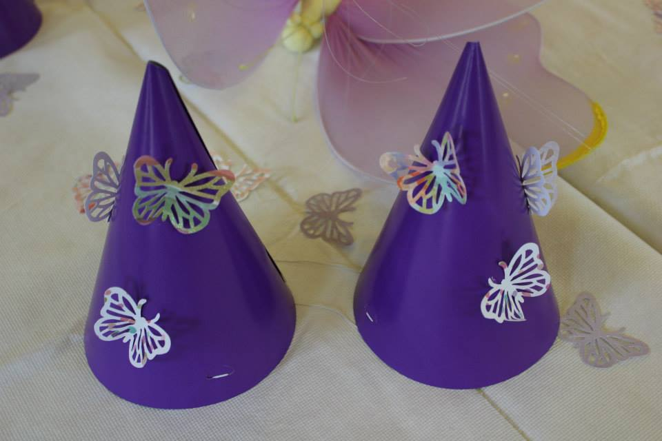 Butterfly Birthday Party DIY Hats